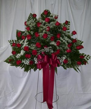 Red Rose End Basket