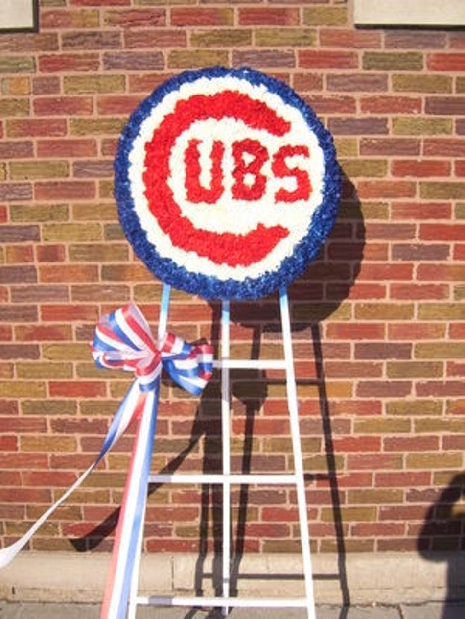 Chicago cubs logo flower arrangements in chicago il home local only izmirmasajfo