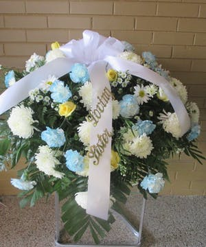 Casket Spray, mixed flowers