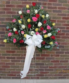 Mixed Roses Funeral Arrangement