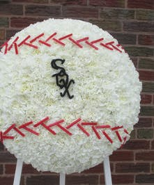 Baseball with Sox Logo