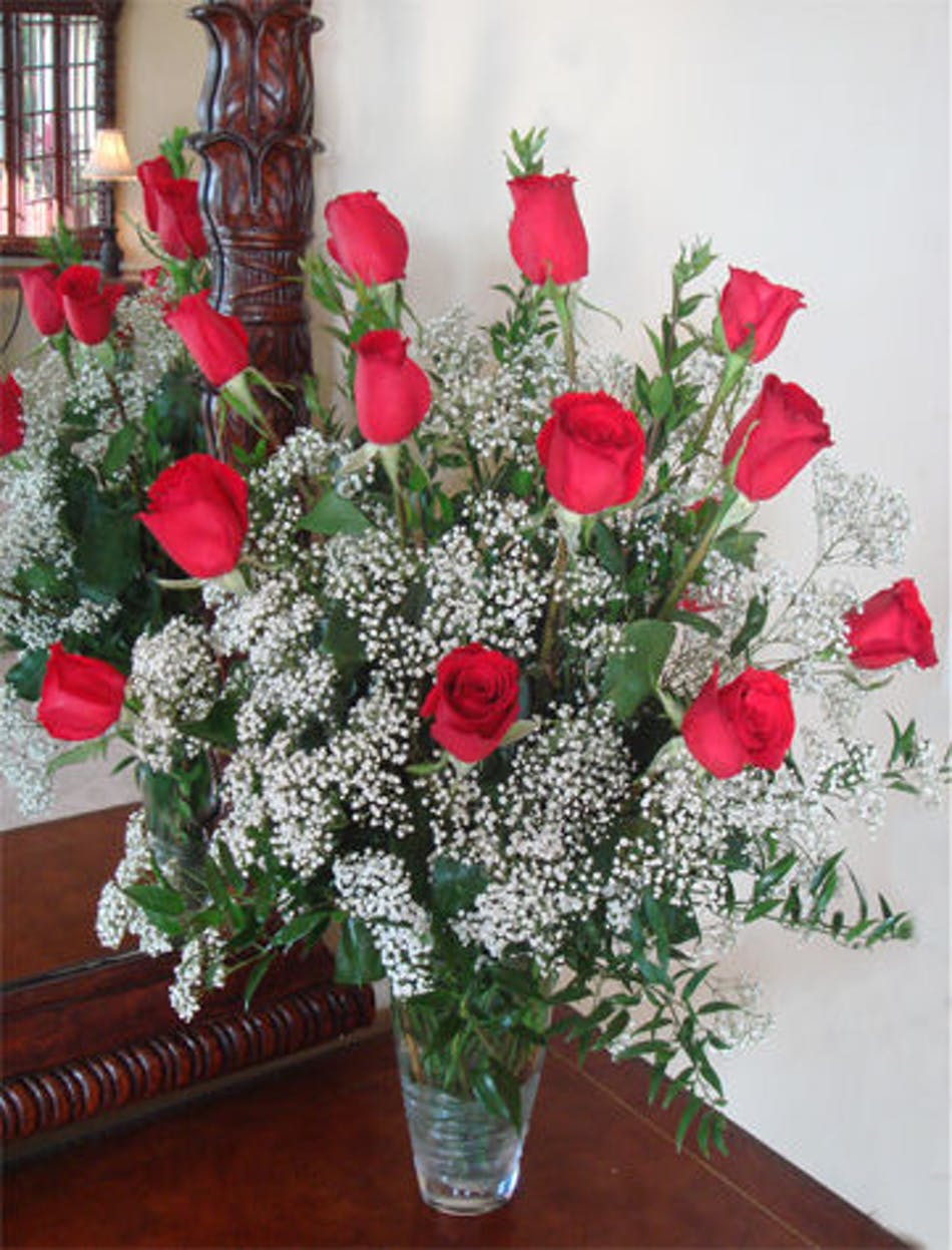 12 red roses flower arrangements in chicago il home fasan florist available for nationwide delivery izmirmasajfo