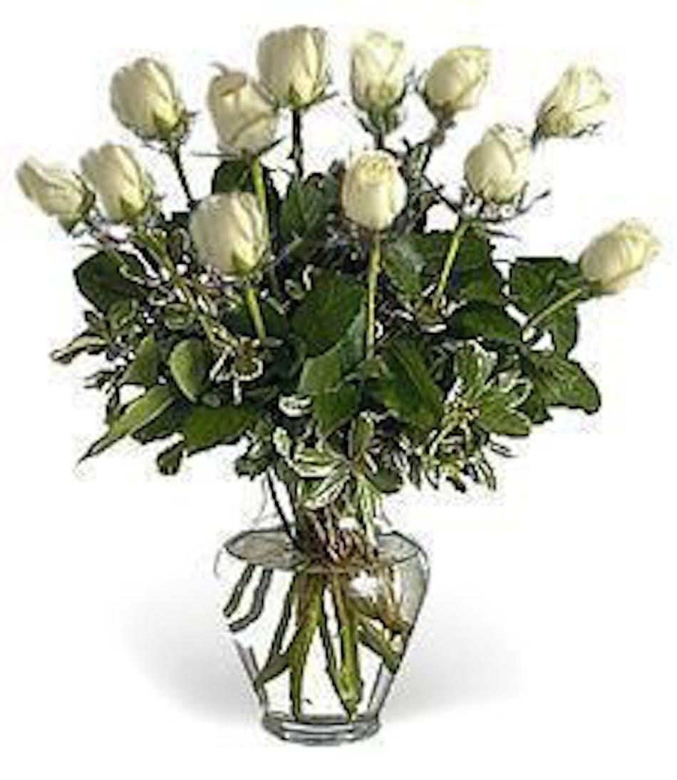 Dozen white roses beautiful hand picked white roses flower dozen white roses beautiful hand picked white roses flower arrangements in chicago il home fasan florist mightylinksfo