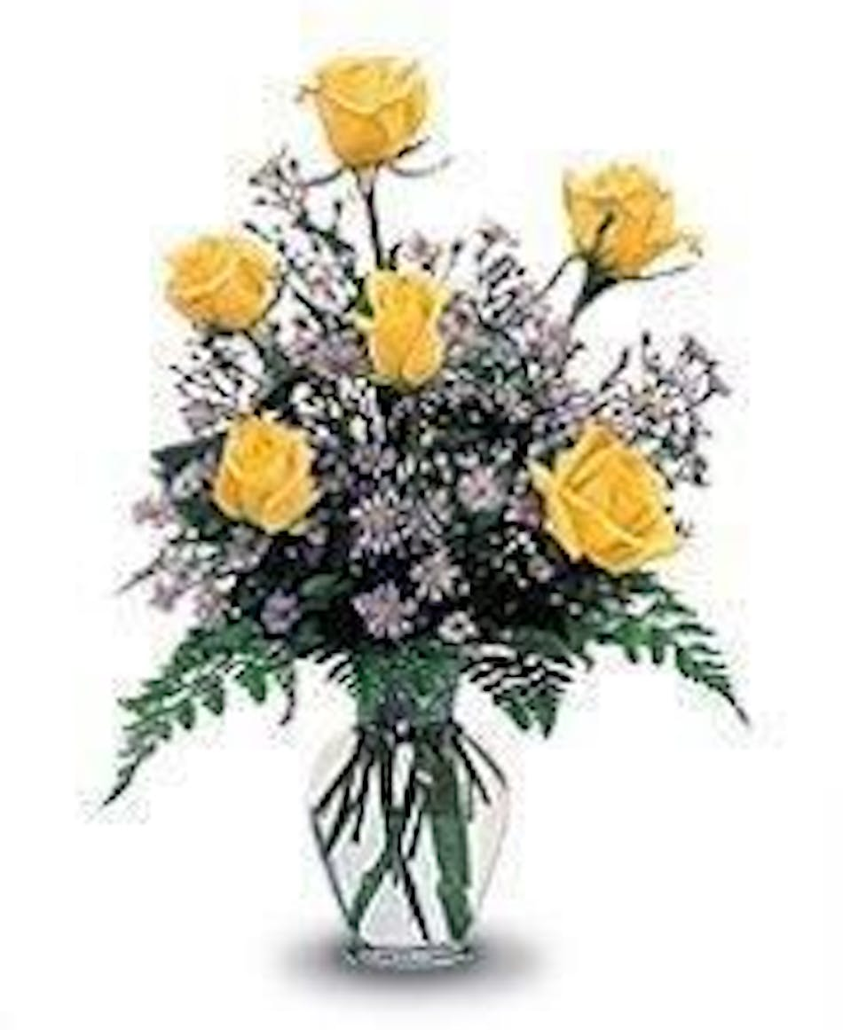 6 yellow roses vased beautiful hand picked ecuadorian yellow roses 6 yellow roses vased beautiful hand picked ecuadorian yellow roses flower arrangements in chicago il home fasan florist mightylinksfo